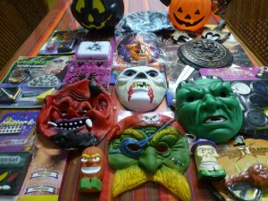 halloween masks and items
