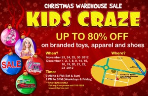 toy christmas warehouse sale