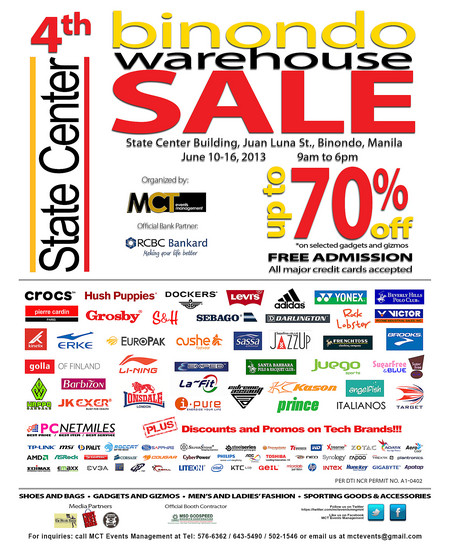 BINONDO WAREHOUSE SALE