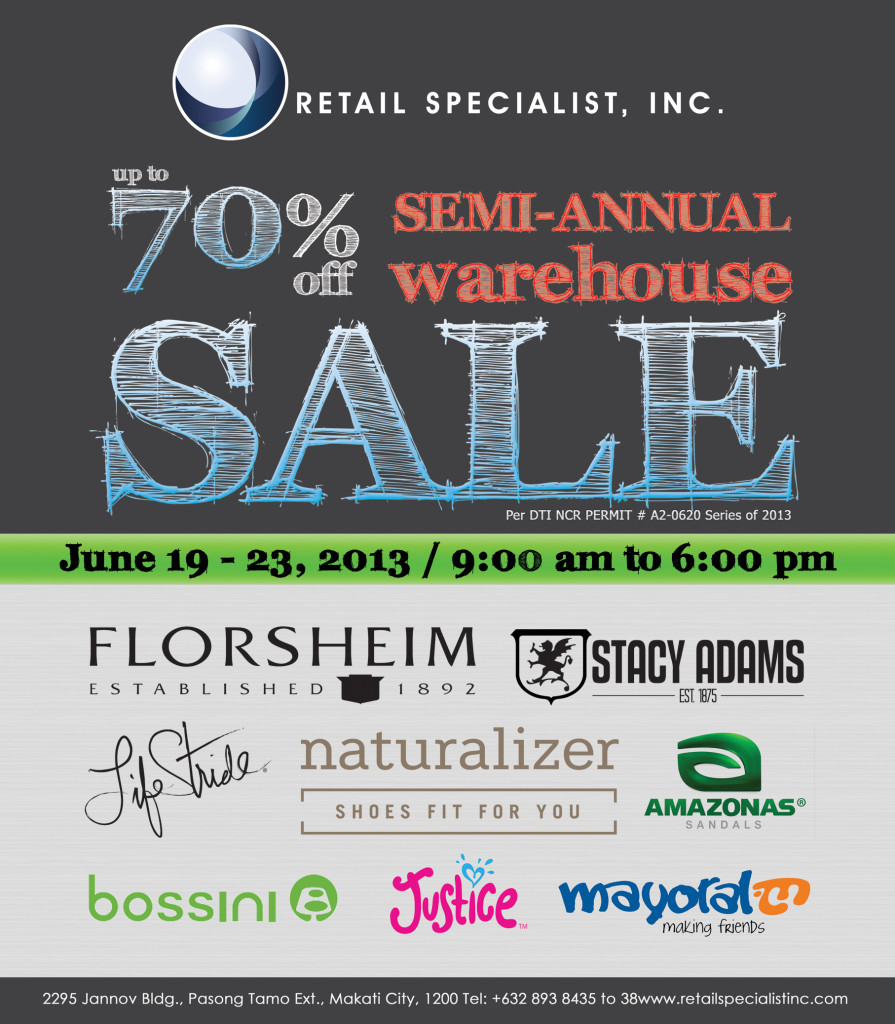 RSI WAREHOUSE SALE