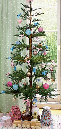 blue green and pink christmas tree