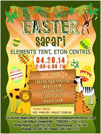EASTER SAFARI ETON CENTRIS