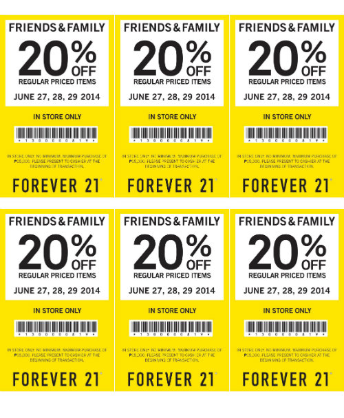 Forever 21 coupons for free shipping