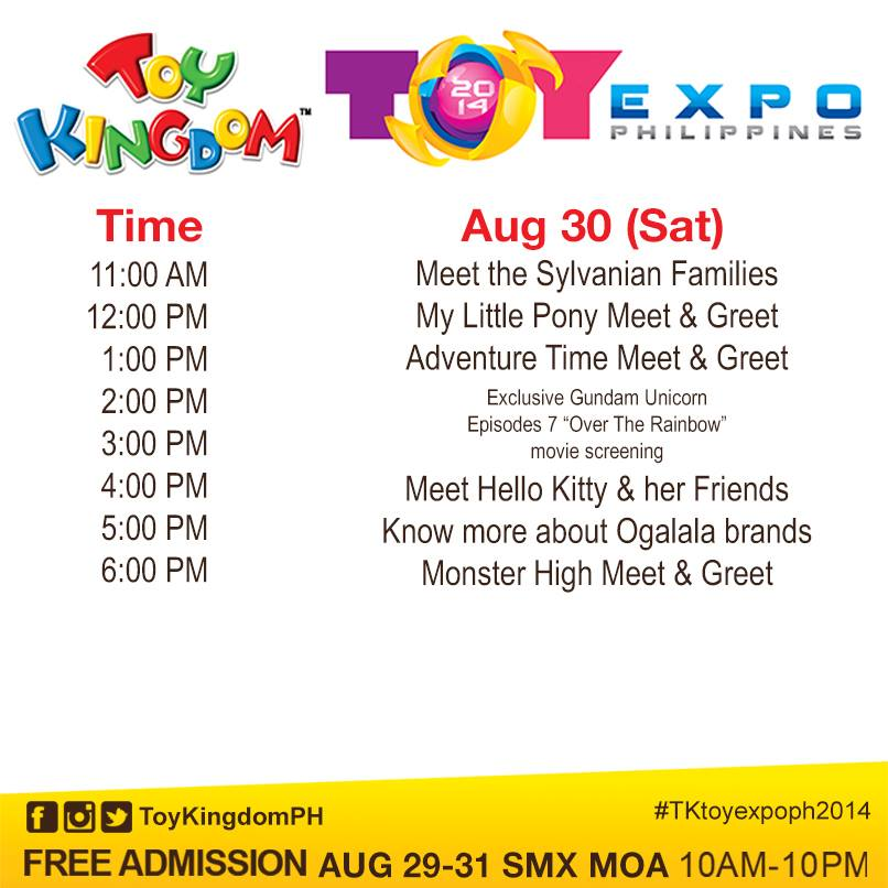 toy expo meet & saturday august 29