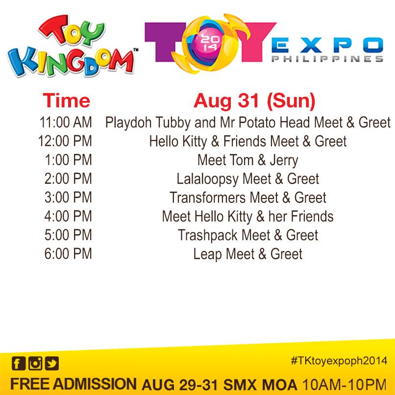 toy expo  2014 AUGUST 31 MEET & GREET